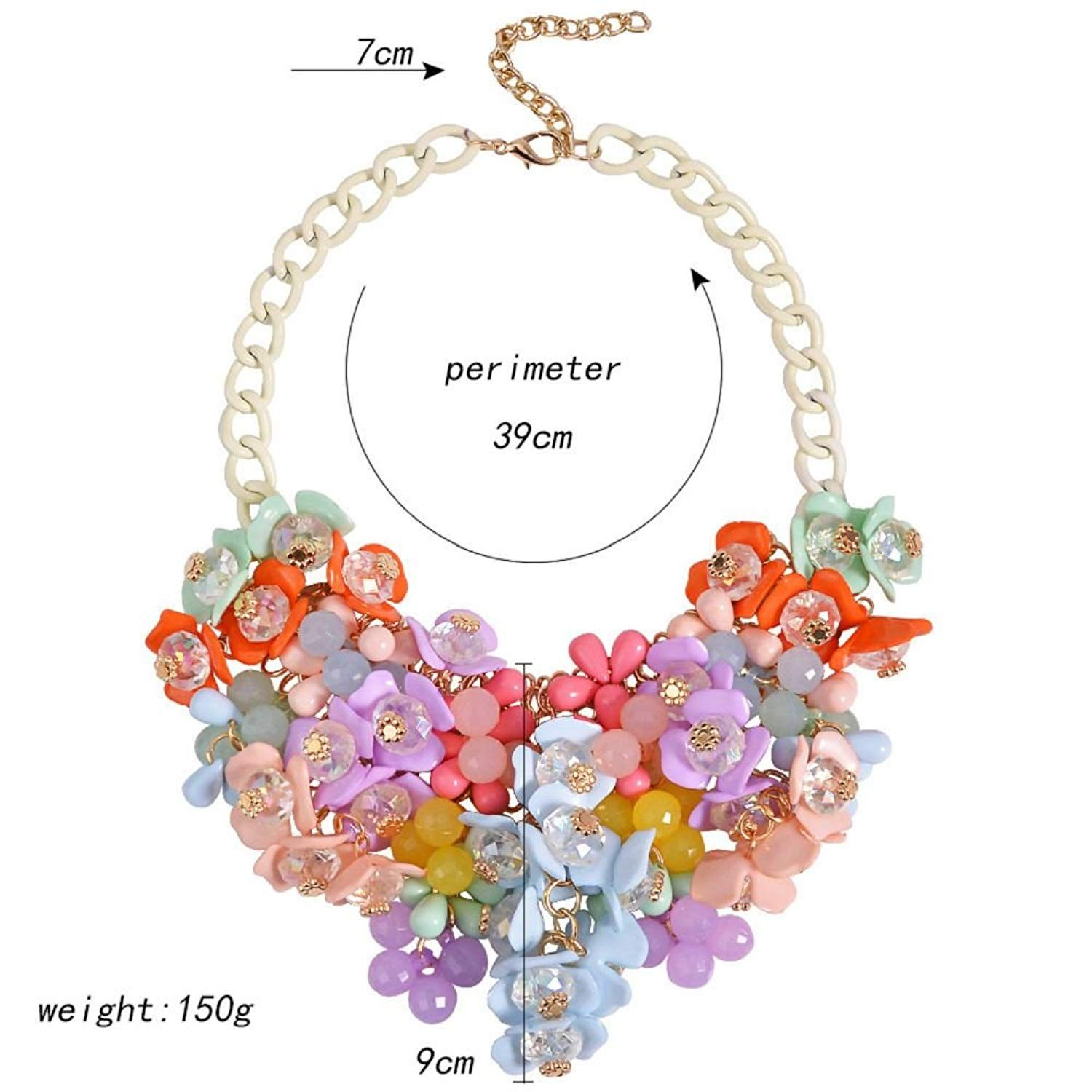 Bubble under belly piercing  HoBST Party Choker Necklace Fashion Flower Bubble Bib Collar Chain