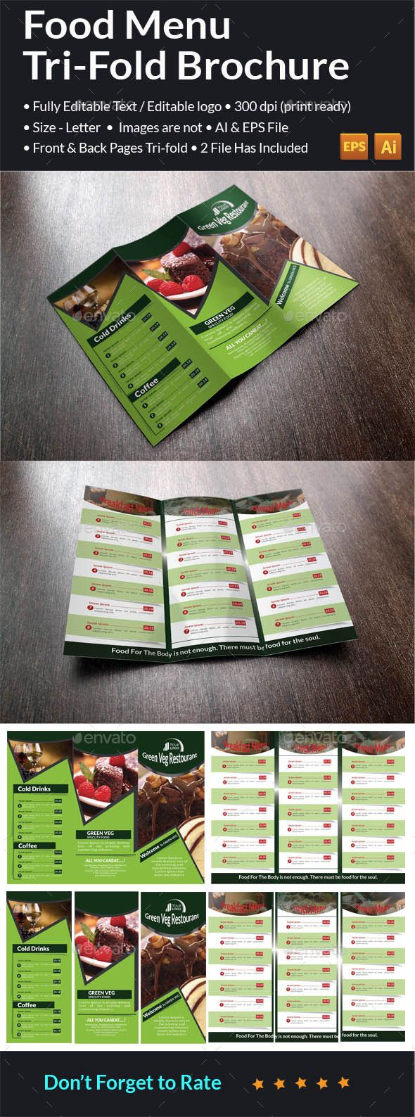 tri fold brochuer double sided 2 ai eps files. Black Bedroom Furniture Sets. Home Design Ideas