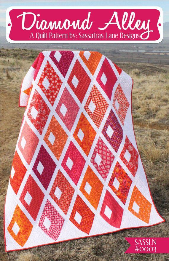 Diamond Alley quilt pattern by Sassafras Lane Designs, modern quilt ...