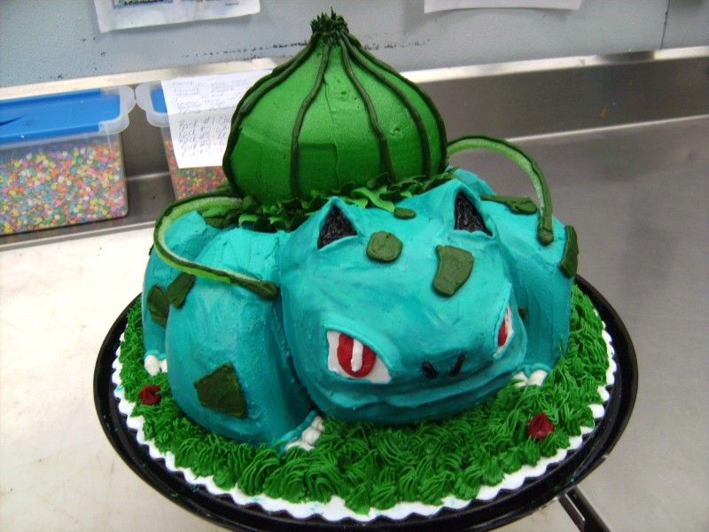 Pokemon Nintendo Cake Decorating Bulbasaur Anton