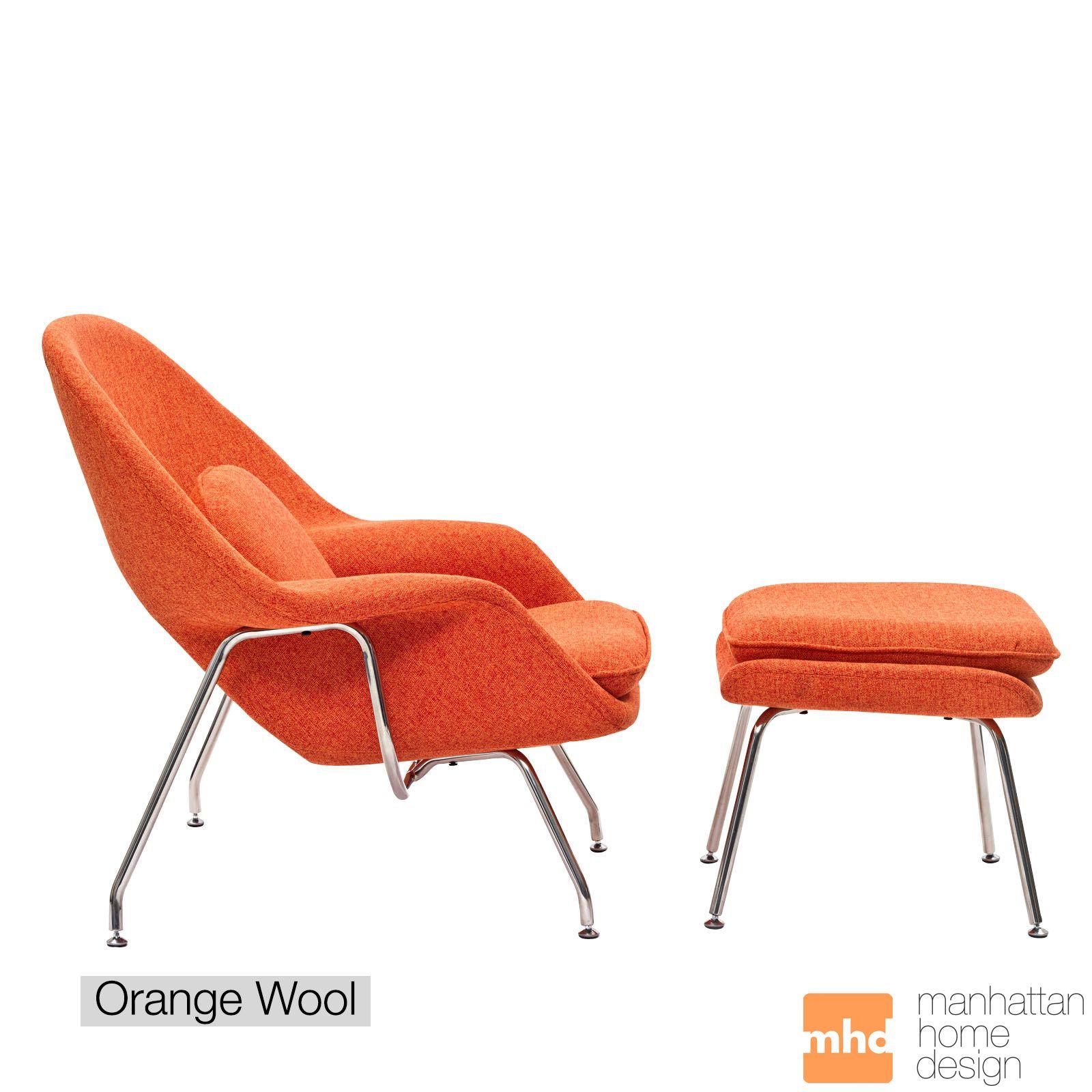 Womb Chair & Ottoman | Womb chair, Ottomans and Saarinen chair
