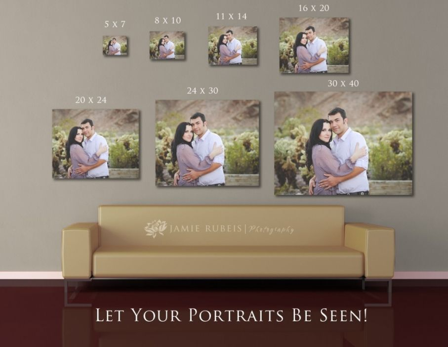 Gallery Wrap Size Comparison Photo Displays Photography Wall Wall Display