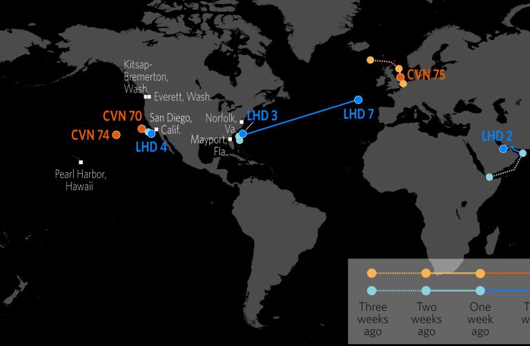 U.S. Naval Update Map: Oct. 18, 2018   Int\'l Military News Naval ...