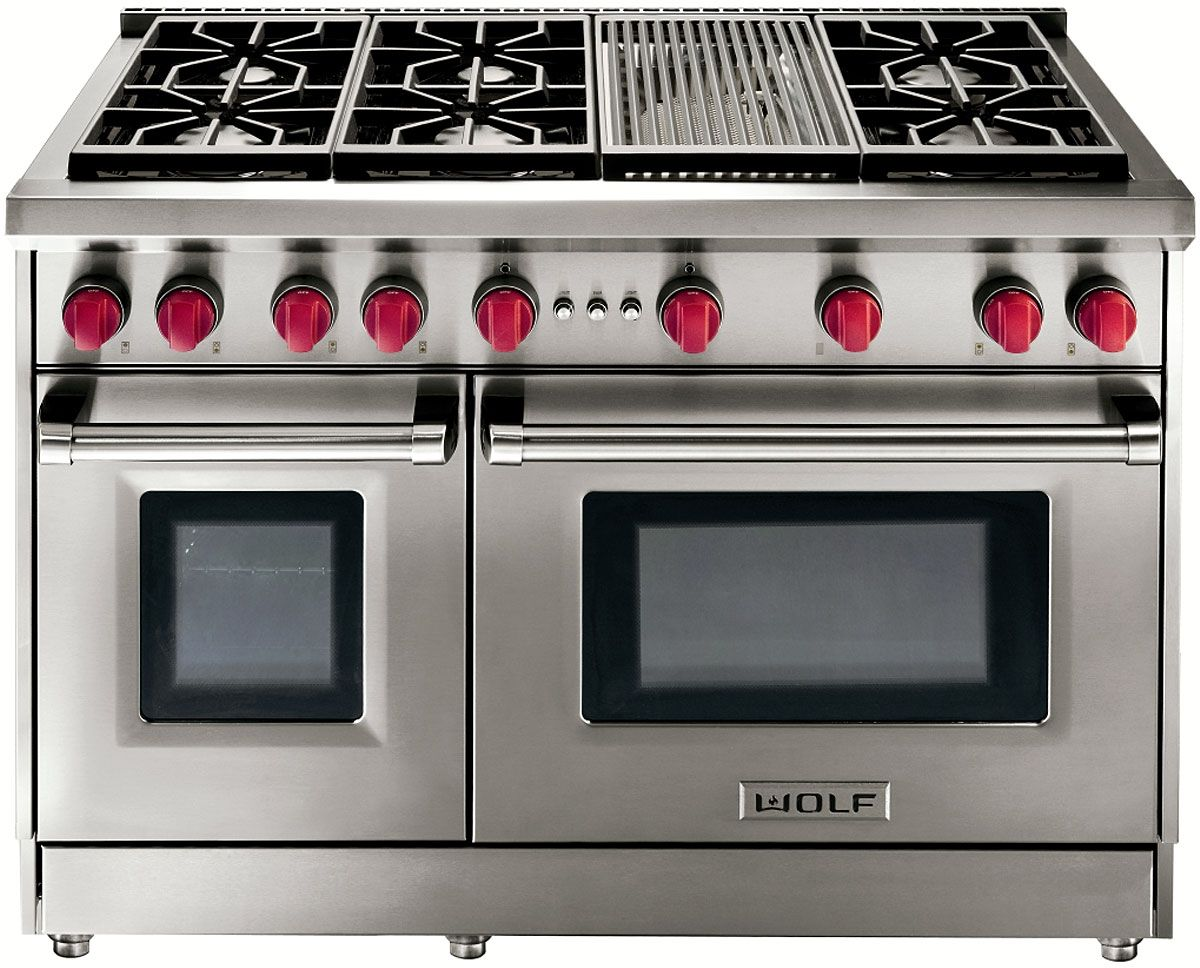 Wolf 48 Gas Range Model Gr486c The Cook In Me Needs This Kitchen Appliances Kitchen Remodel Stove With Griddle