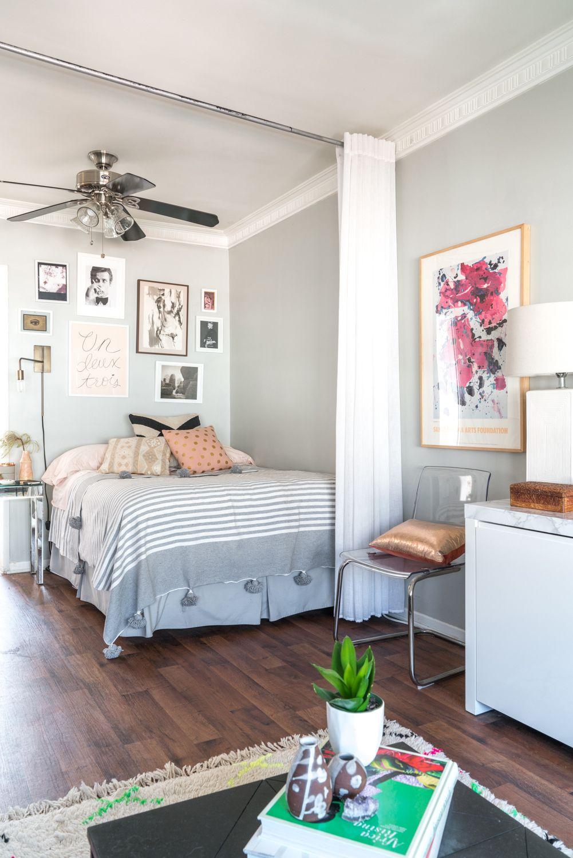 Smart u stylish ideas for dividing a bed area in a studio organize