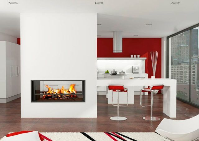 Más de 100 ideas con Fotos de Salones con Chimeneas Modernas - chimeneas modernas
