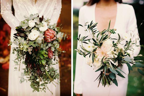 Ramos de novia greenery #bodas #ElBlogdeMaríaJosé #RamoNovia #Greenery #TendenciasBoda