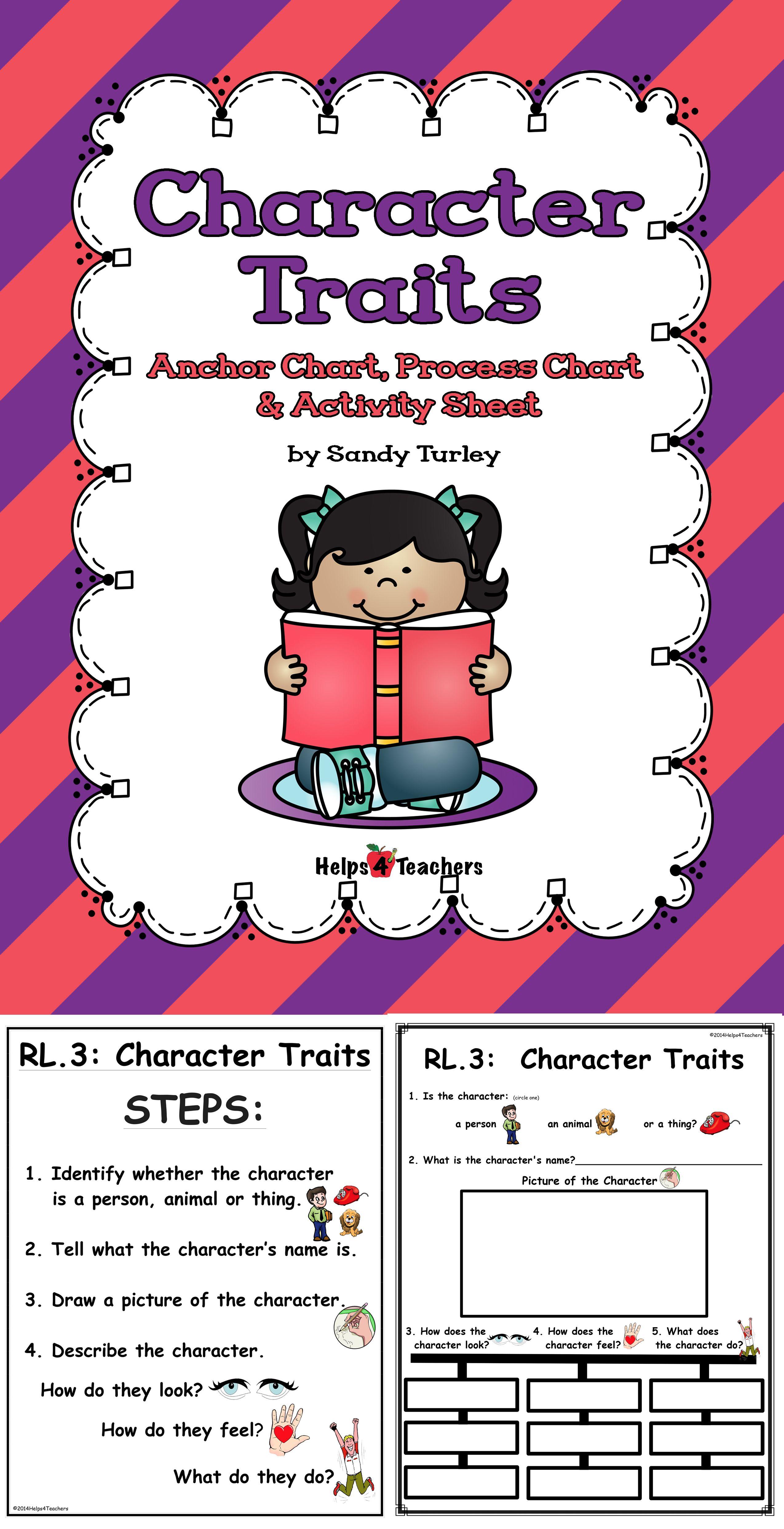 Ccss Rl 3 Character Traits Anchor And Process Charts