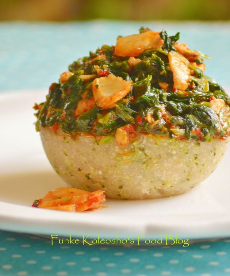 Funke koleoshos food blog veggie swallow garieba mamaput how to make nigerian swallow meals making swallows healthierveggie swallow forumfinder Images