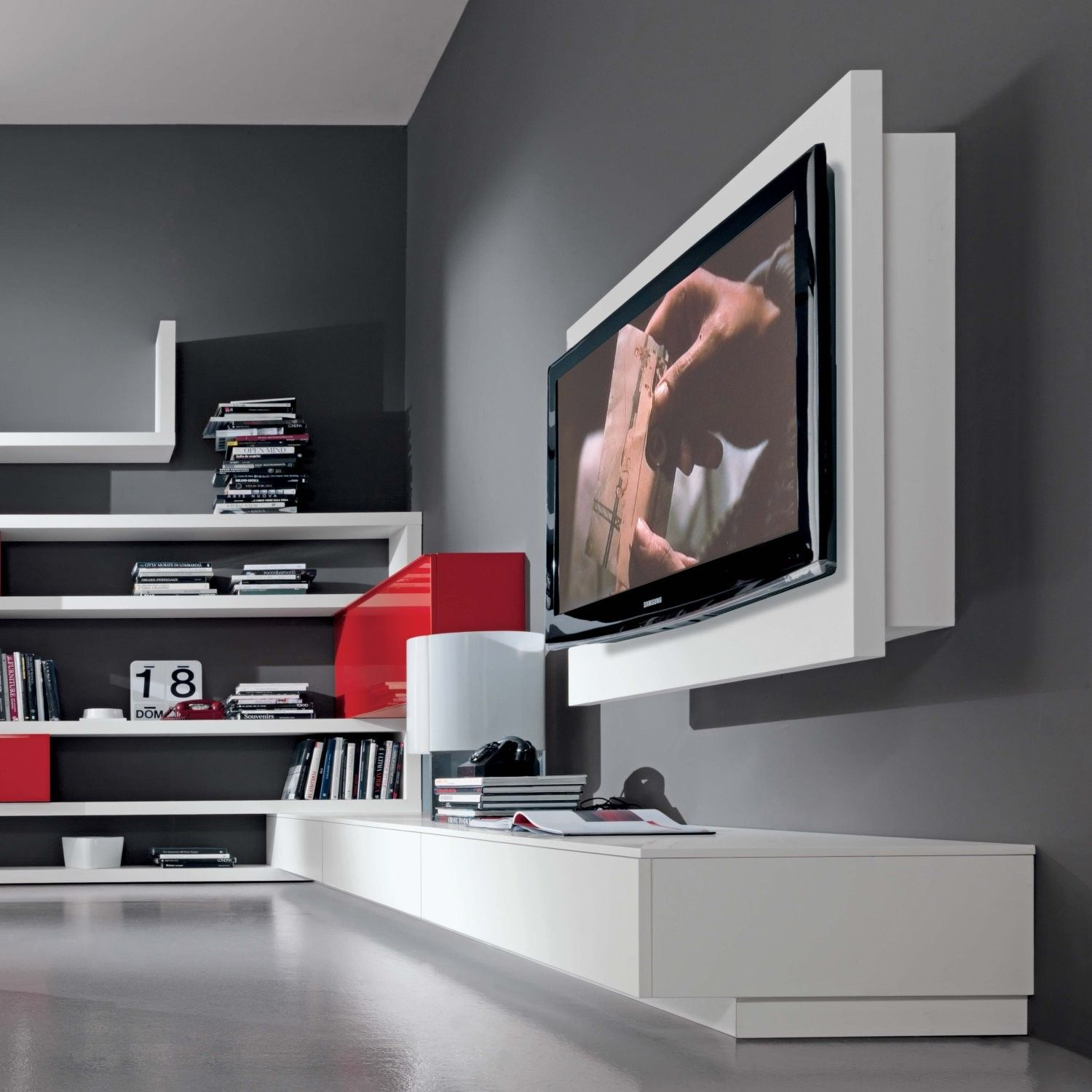 Porta Tv Rack.Rack Adjustable And Extendible Wall Tv Stand Arredaclick