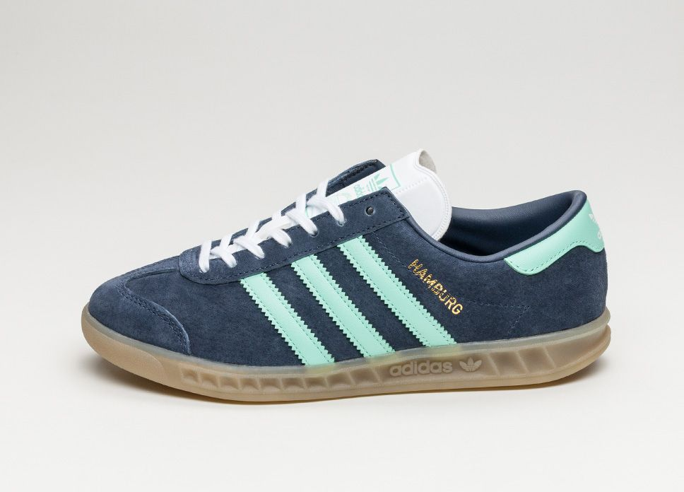 sale retailer ab88b bfadb adidas Hamburg W (Midnight Grey  Easy Green  Gum) lpu sneaker