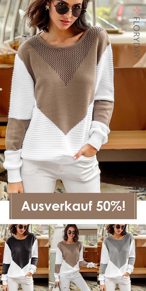 Photo of Lockere Sweaters in Blockfarben
