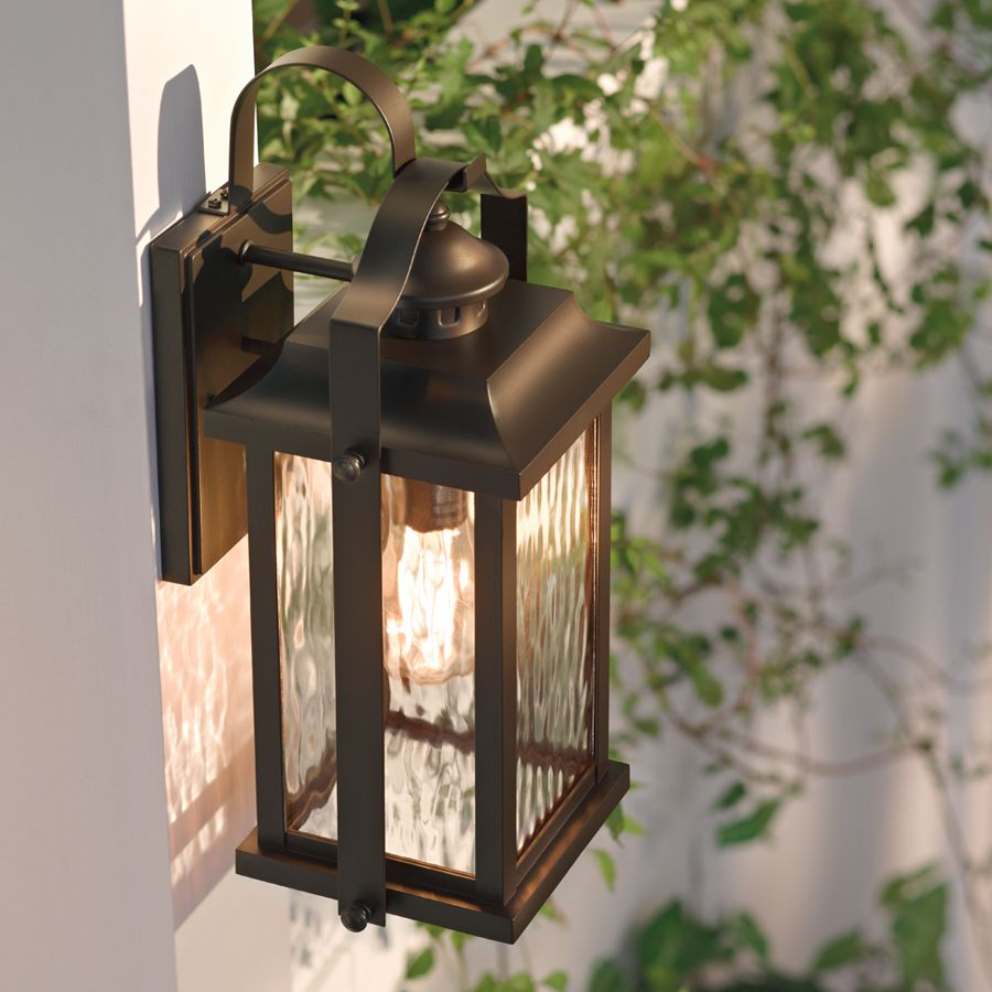 Shop Kichler Lighting Linford 15 In H Olde Bronze Outdoor Wall Light At Lowes