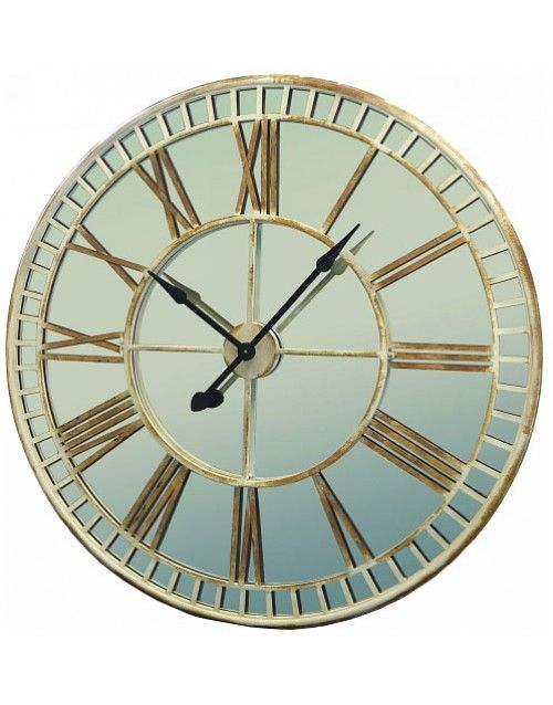 Mirrored Wall Clock glamorous large mirrored wall clock with oversized design and