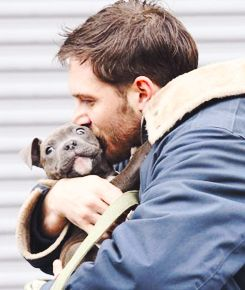 Tom Hardy... kissing a puppy.. I can't.