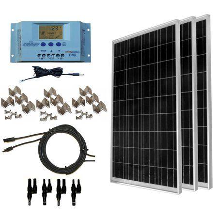 Windynation 300 Watt Off Grid Solar Panel Kit With P30l Solar Panel Kits Solar Panels Off Grid Solar Panels