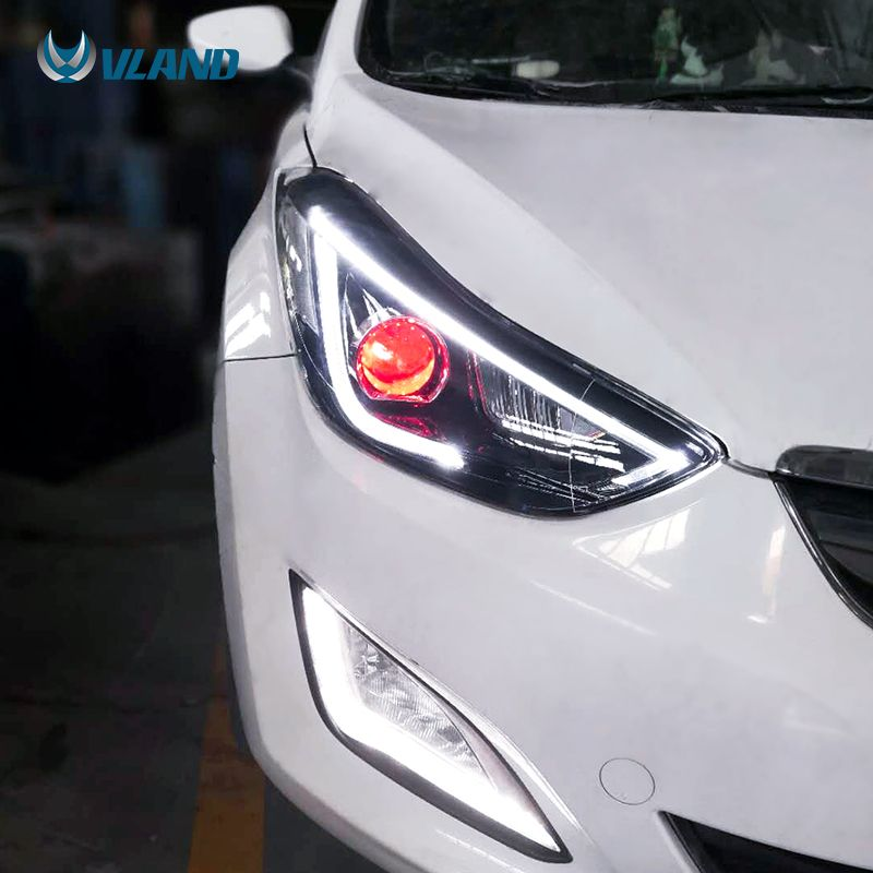 Vland Manufacturer Factory Wholesales Fifth Generation Avante Facelift Head Lamp Led 2012 2015 Headlight For Hyundal Elantra View For Elantra Headlights Vland Elantra Hyundai Elantra Hyundai