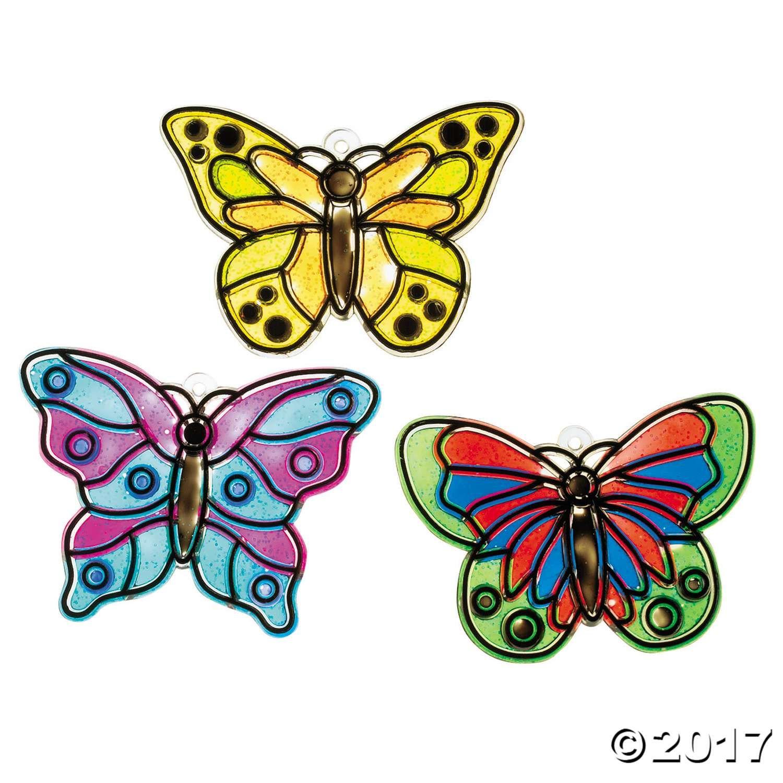 Butterfly Suncatchers Crafts, Themed crafts, Mothers day
