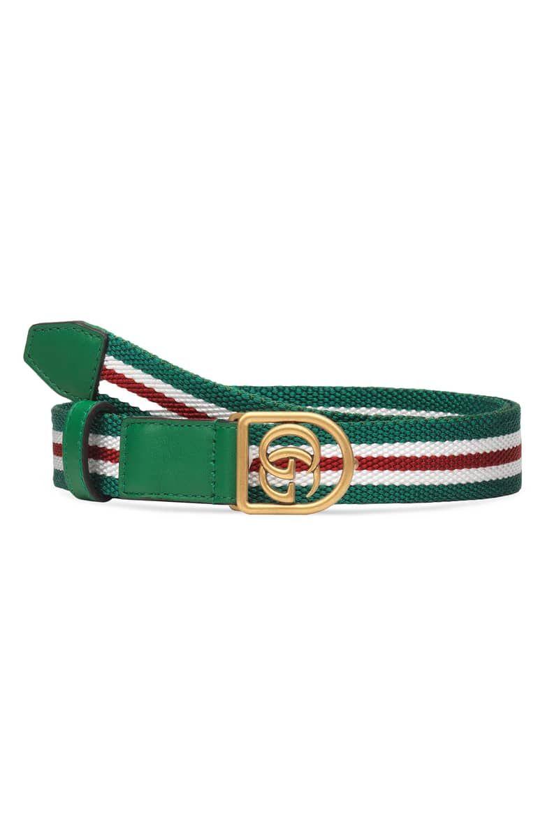 dc5a4aa7b40 GG Logo Web Stripe Belt affiliatelink