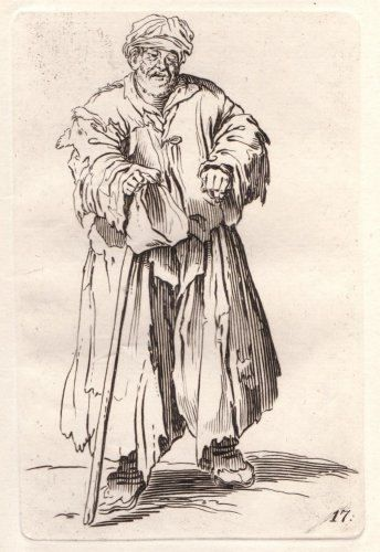 Jacques Callot  Beggar with cap and Crutch  by HouseofStowFineArts, $125.00