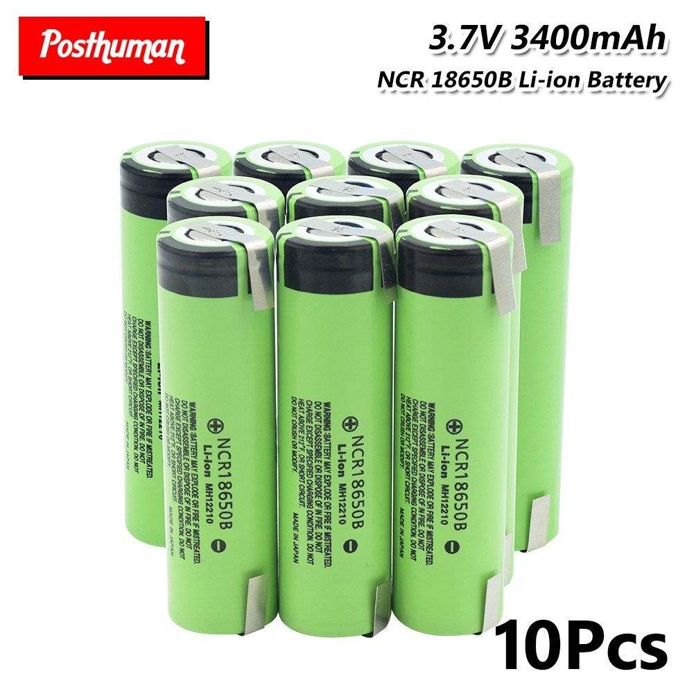 18650 3400mah For Torch Power Battery Ncr18650b Lithium Li Ion Battery With 2 Tabs High Drain 20a 18650 3400mah Torch Power Li Ion Battery Battery Torch