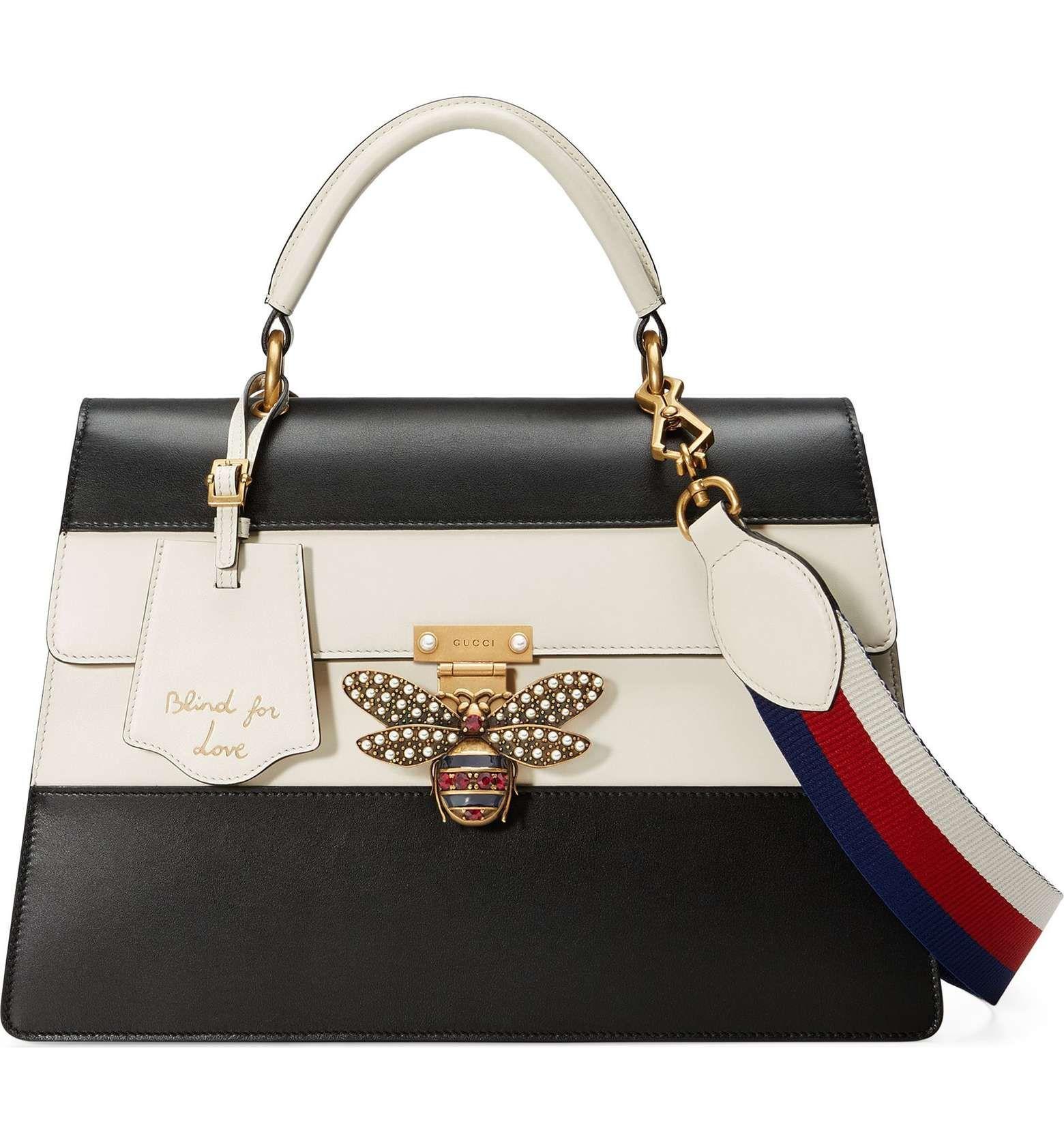 dc32923aa3e3 Main Image - Gucci Queen Margaret Top Handle Leather Satchel ...