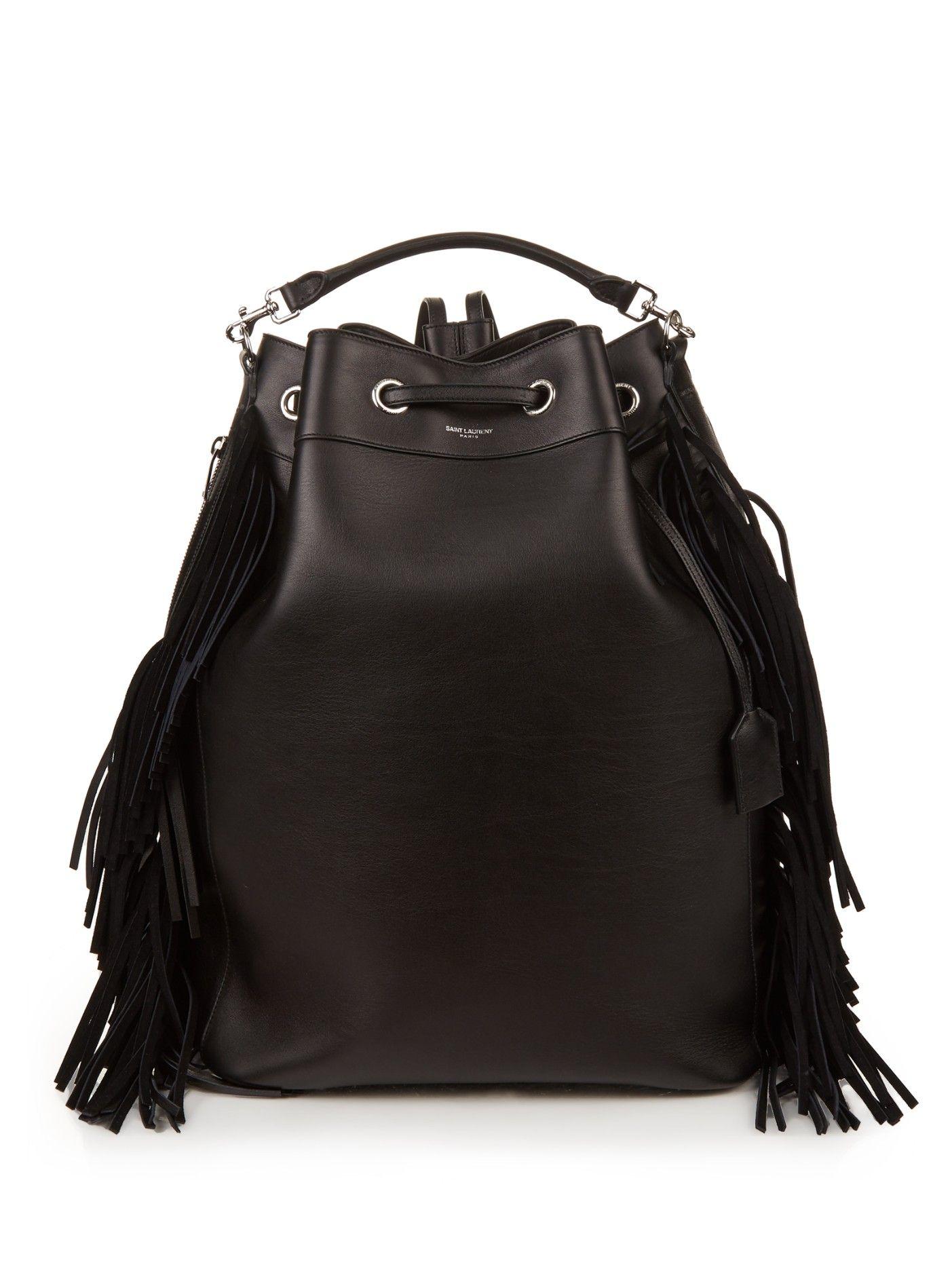 c7cc21d06b3 Emmanuelle fringed leather backpack