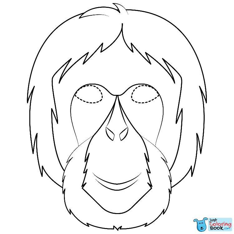Orangutan Mask Coloring Page Free Printable Coloring Pages Free