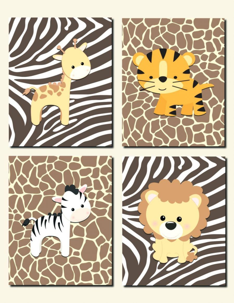 Wall Ideas Safari Wall Art Stickers African Safari Canvas Wall Art Jungle Animals Nursery Wall Baby Girl Nursery Art Baby Animal Nursery Baby Boy Nursery Art