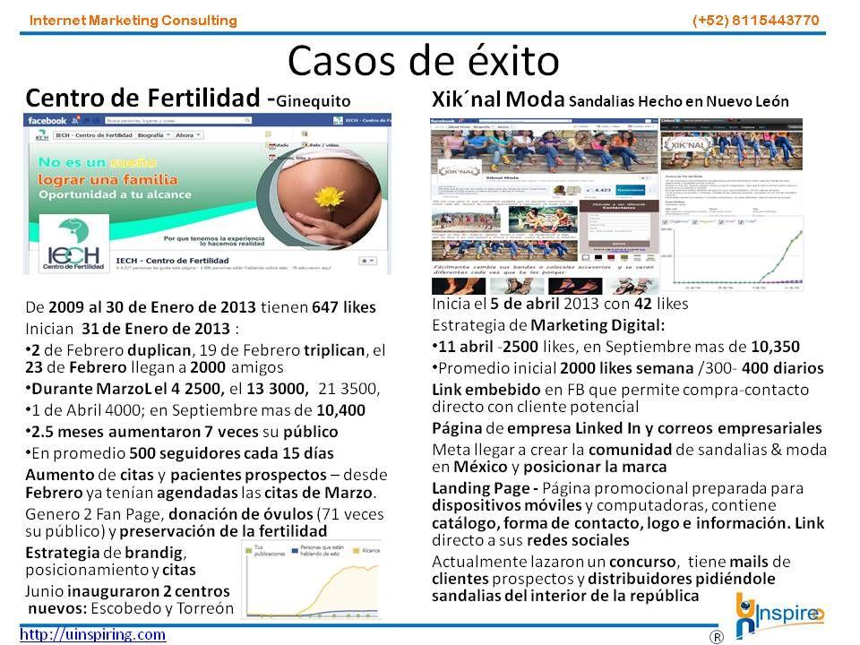 Casos de Éxito  contacto@uinspiring.com http://uinspiring.com/