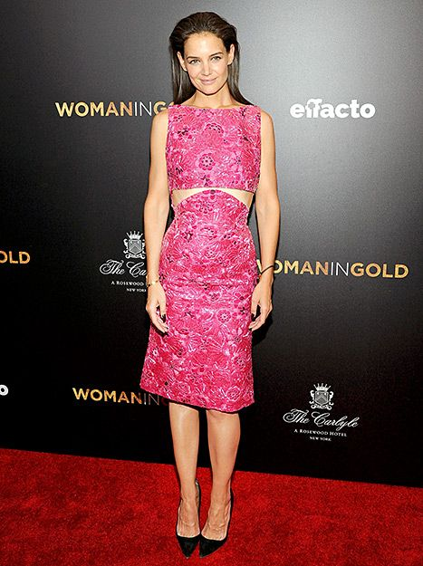 Katie Holmes Stuns in Hot Pink Cutout Dress on Red Carpet: Photos - Us Weekly