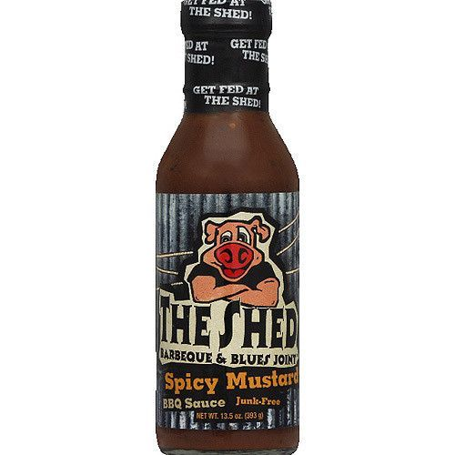 The Shed BBQ Spicy Mustard (6x13.5 OZ)