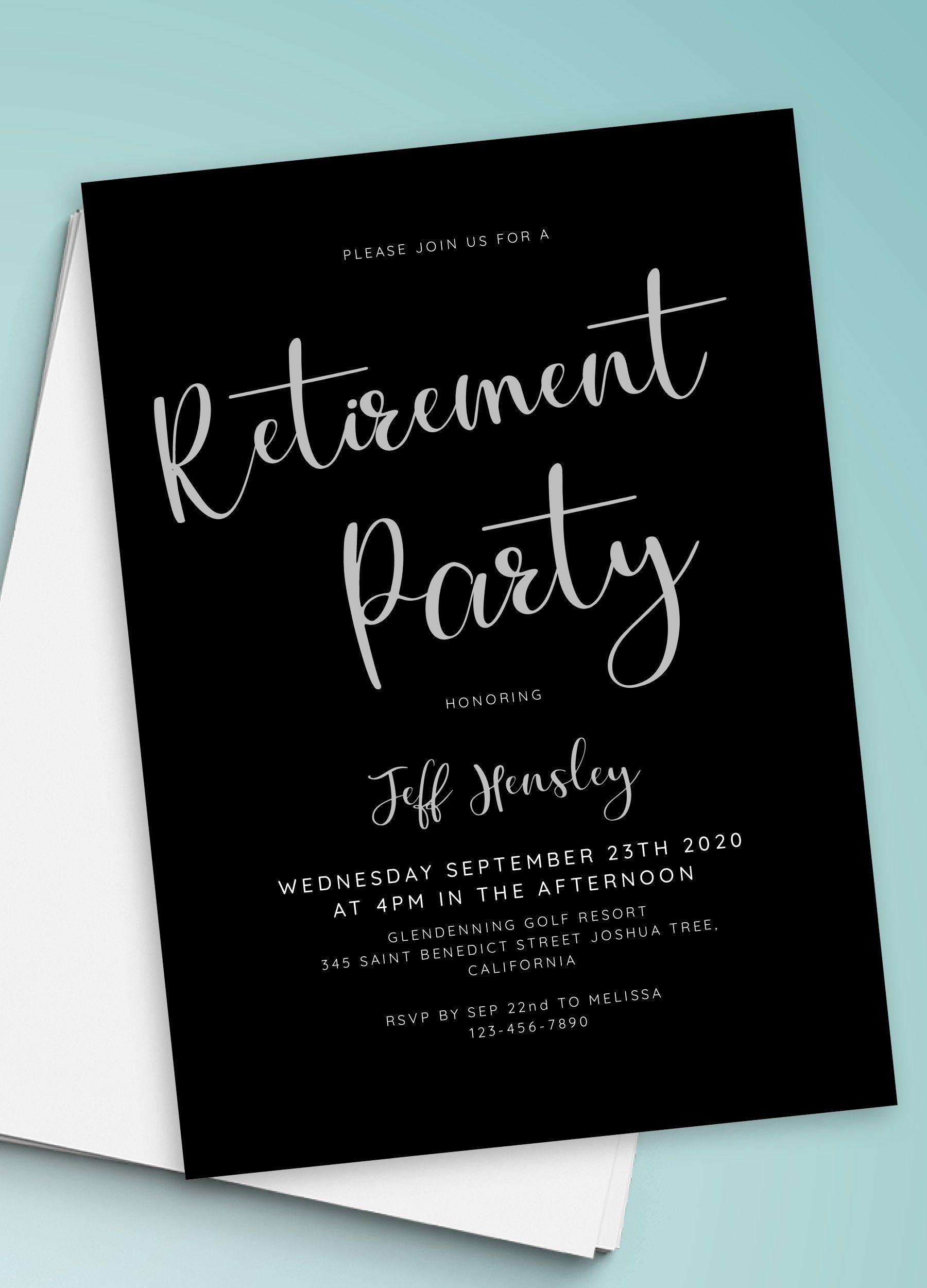 Invitation Retirement Party - Download & Print in 5  Party