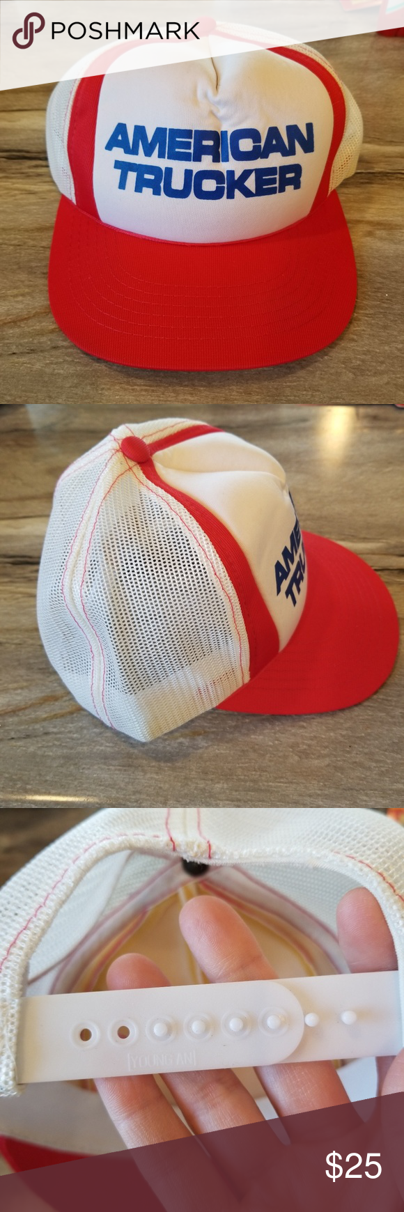 Vtg American Trucker Foam Mesh Snapback White Hat Never Worn Clean Young An Accessories Hats White Hat Hats Trucker