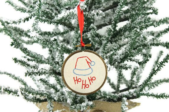 Santa\u0027s Hat Prim Christmas Tree Ornament - Farmhouse Ornament