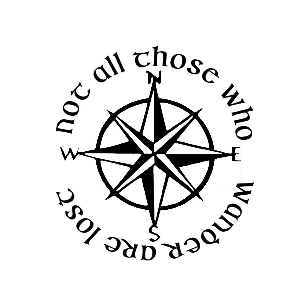 Not All Those Who Wander Are Lost Tattoo Compass Sp 00130 Not All Those Who Wander Are Lost Lotr Compass Viny Lost Tattoo Compass Jeep Tattoo