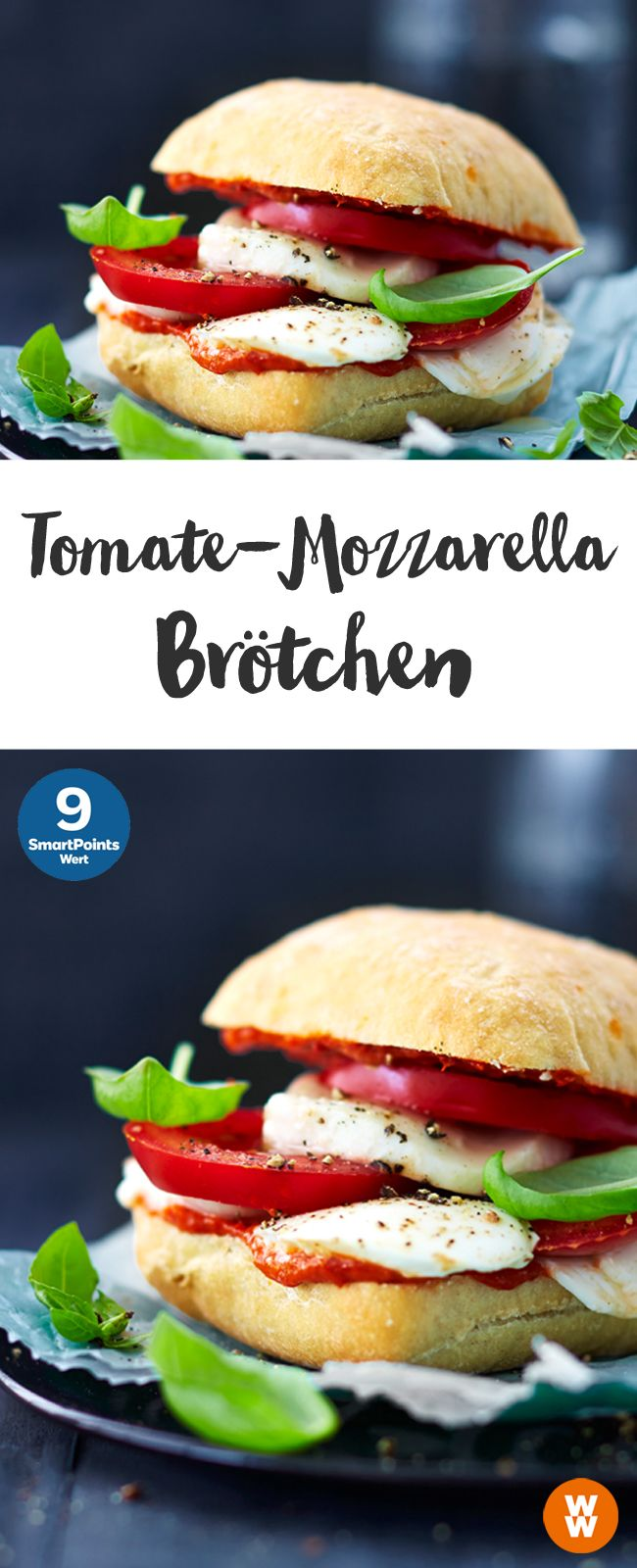 Weight Watchers Schnelle Gerichte Tomaten Mozarella Brötchen 9 Smartpoints Portion Weight