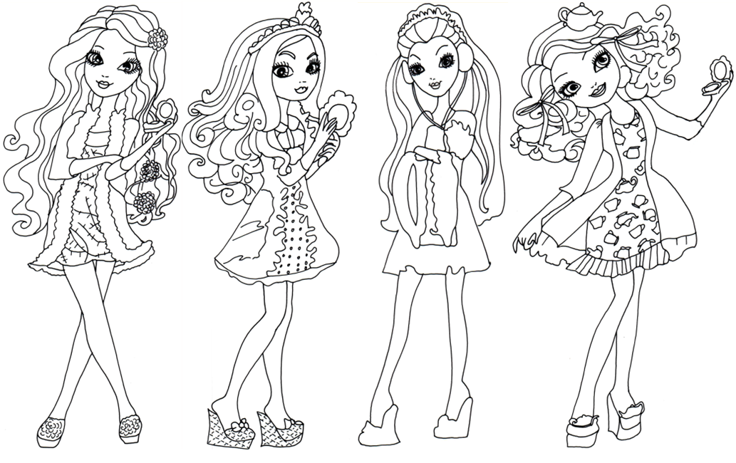 Click Here To Print Getting Fairest Ever After High Coloring Page Briar Beauty Apple White Raven Quee Cute Coloring Pages Coloring Pages Ever After High