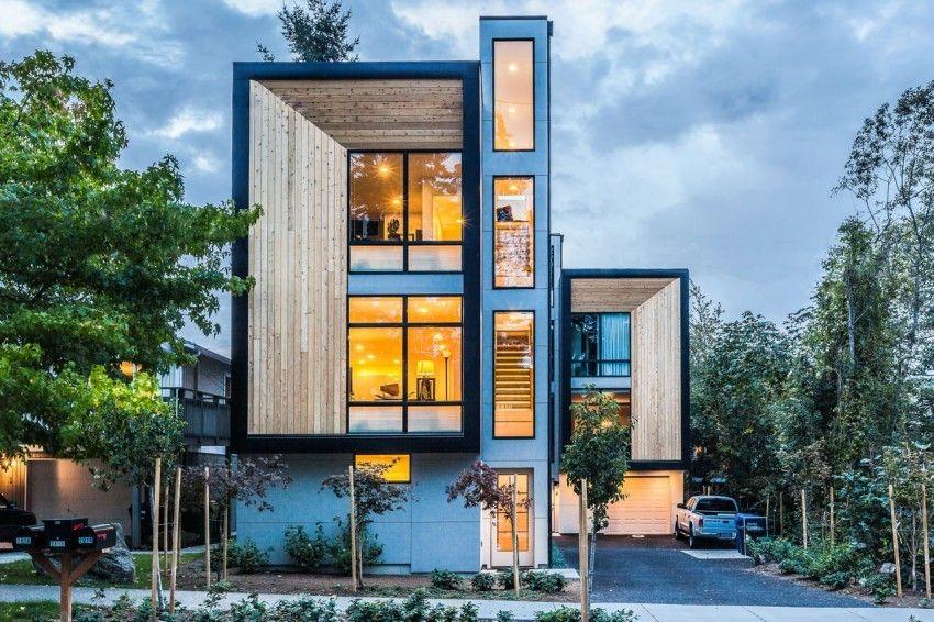 Originale maison contemporaine de ville sur 3 niveaux à Seattle, Usa ...
