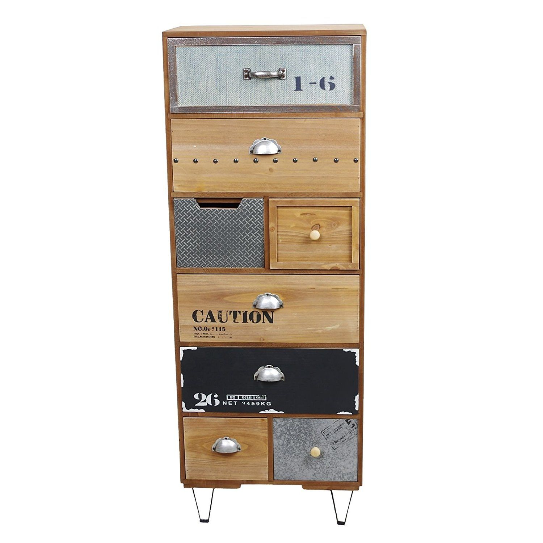 Sideboard Kommode INDUSTRIAL LOOK Mit 8 Schubladen 94x35x22cm: Amazon.de:  Küche U0026 Haushalt