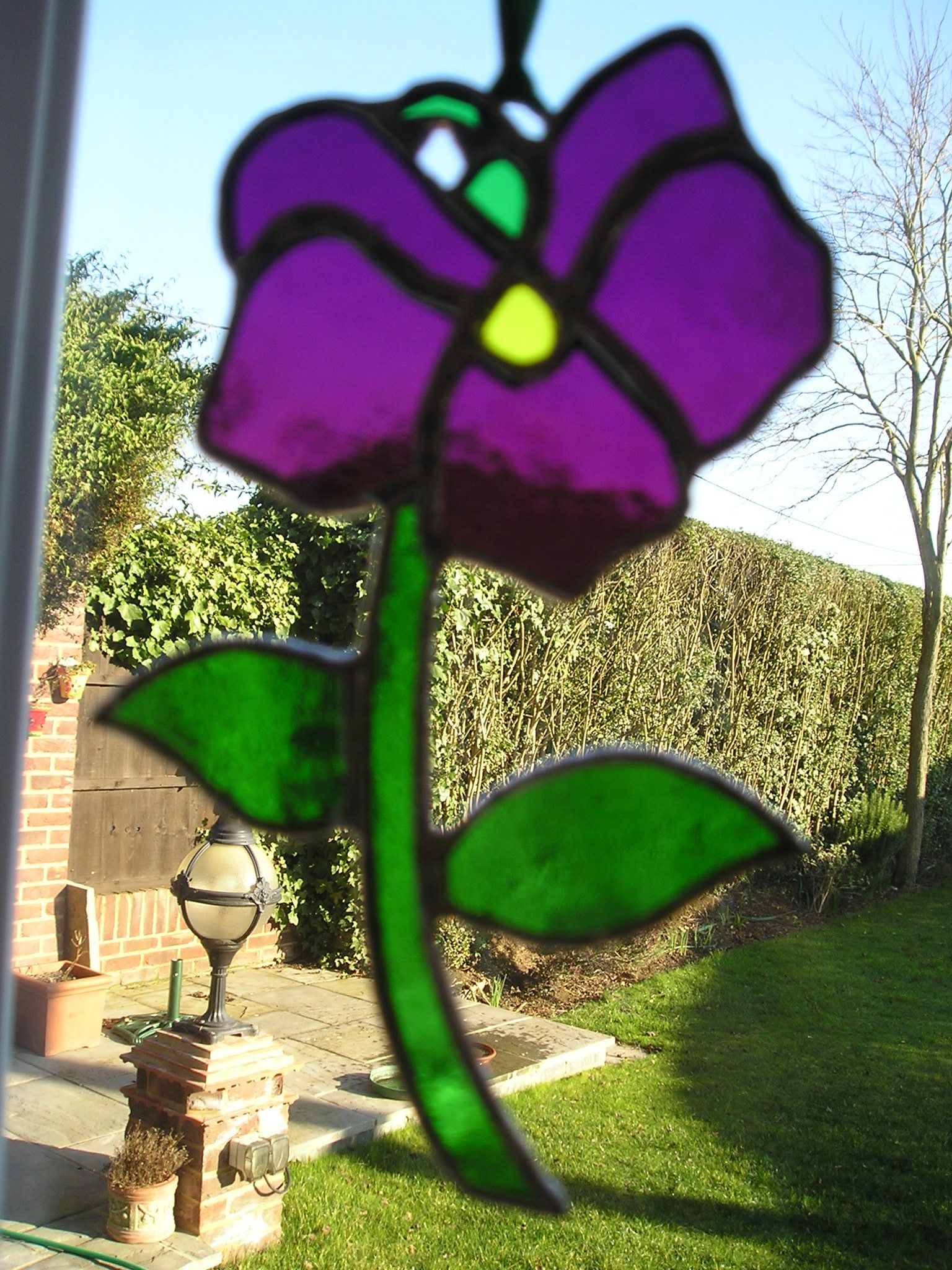 Stained Glass Violet Birthday Flower For February Available To
