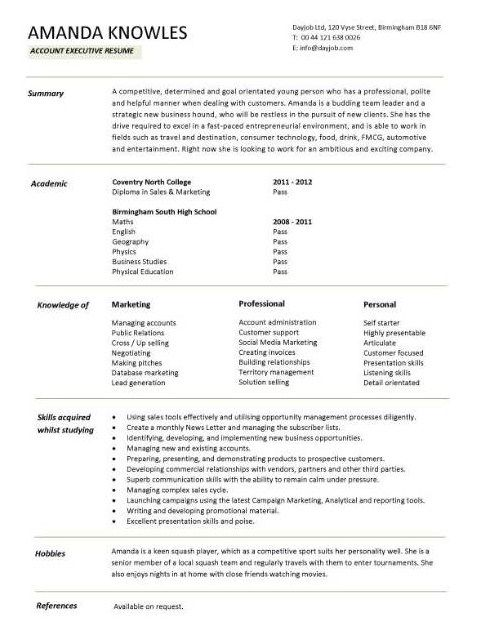 Simple Entry Level Resume Student Resume Template Executive Resume Template