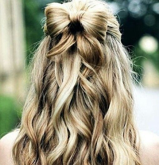 bow in hair style bow hairstyle hair styles hair style prom 2944