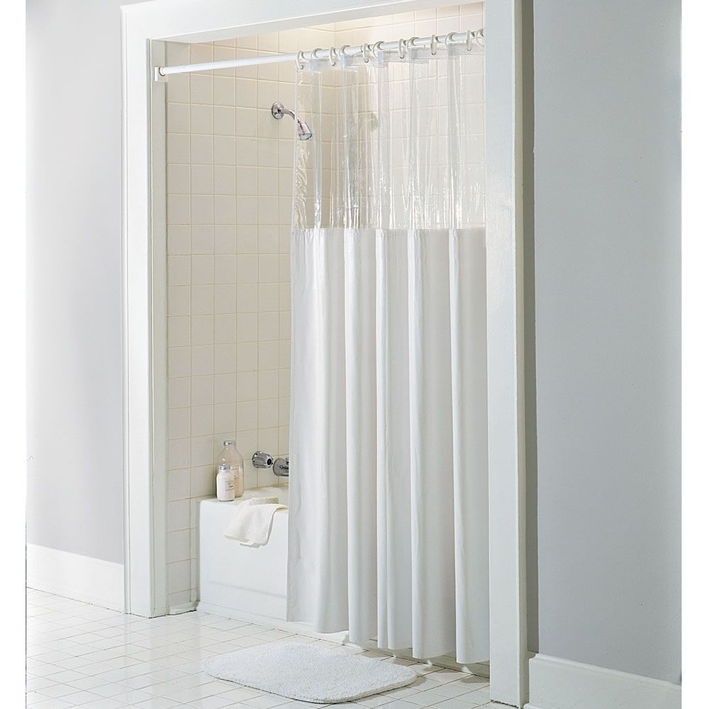 Captivating Heavy Duty Shower Curtain Is Treated To Resist Mold, Mildew, And Bacteria.  It Contains Anti Microbial Vinyzene, A Proven Mildew Resistant Chemical  That ...