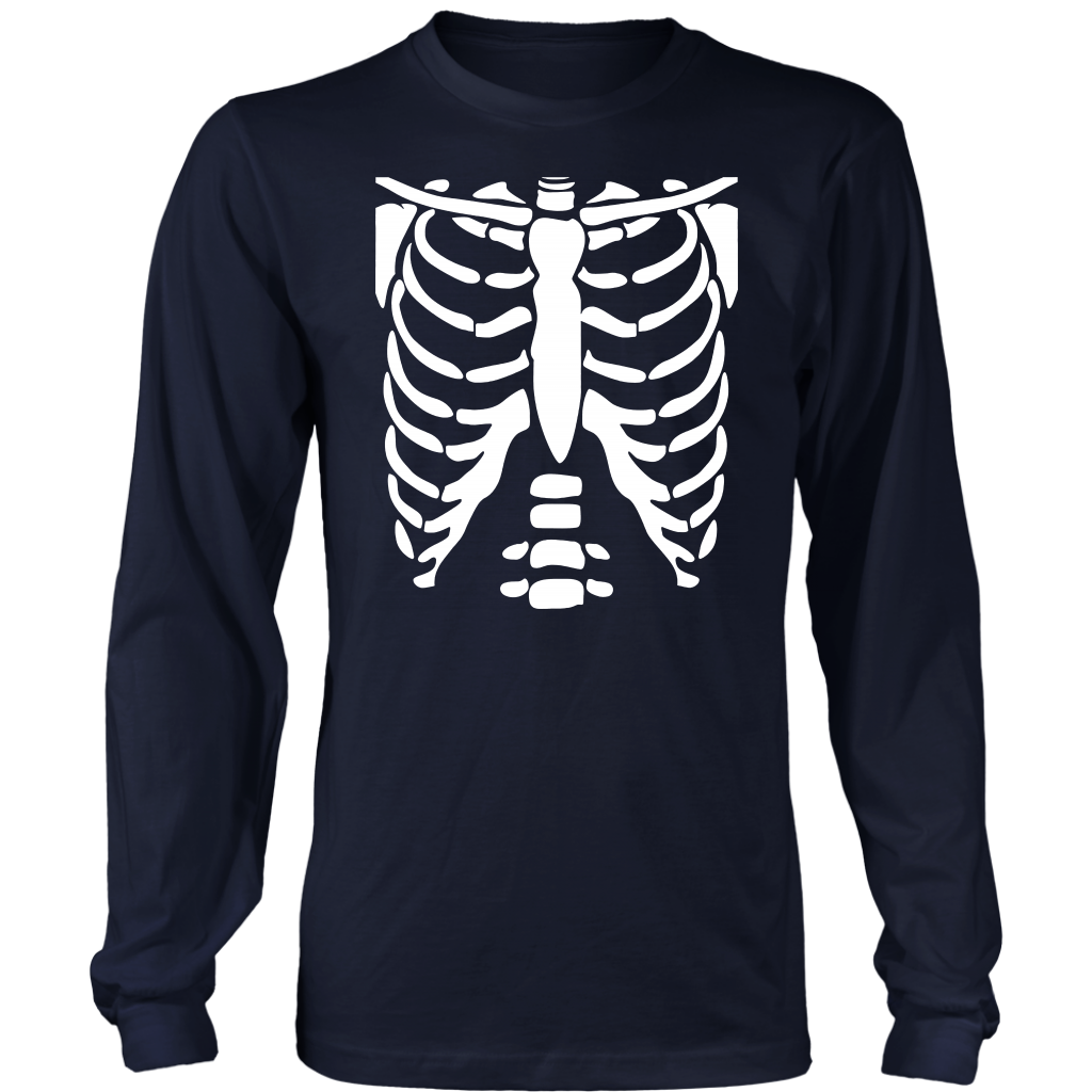SKELETON SHIRT - Halloween Costume Rib cage Anatomy T ...
