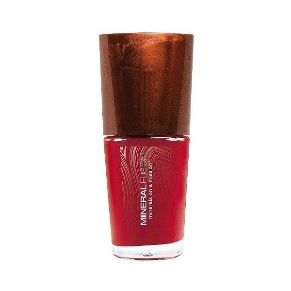 Mineral Fusion Nail Polish - Crimson Clay .33oz featuring polyvore ...