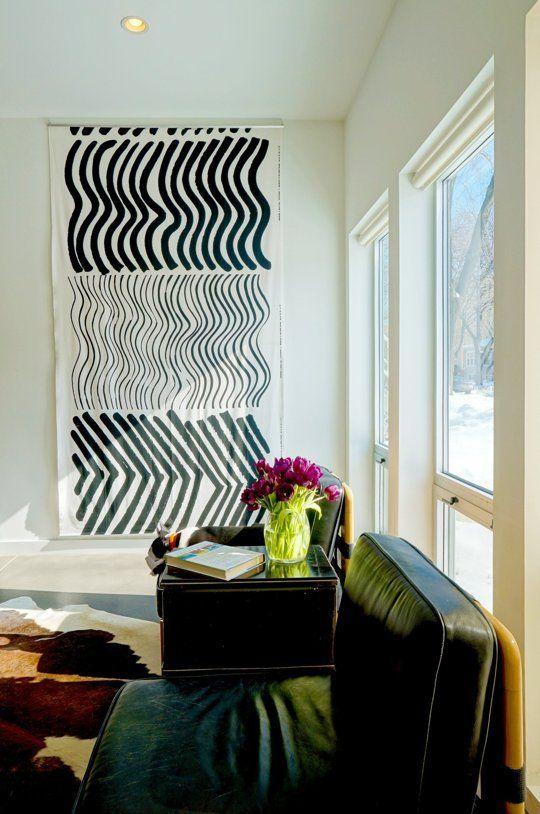 Bold Black White Art Ideas Inspiration Apartment Therapy