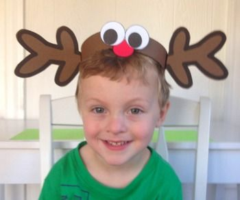5eee65dc5 Christmas: {A So Sweet Craft Reindeer Hat} | preschool ideas ...