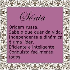 68abc7e585f Significado do nome Sónia | Significado dos Nomes | Ditados ...
