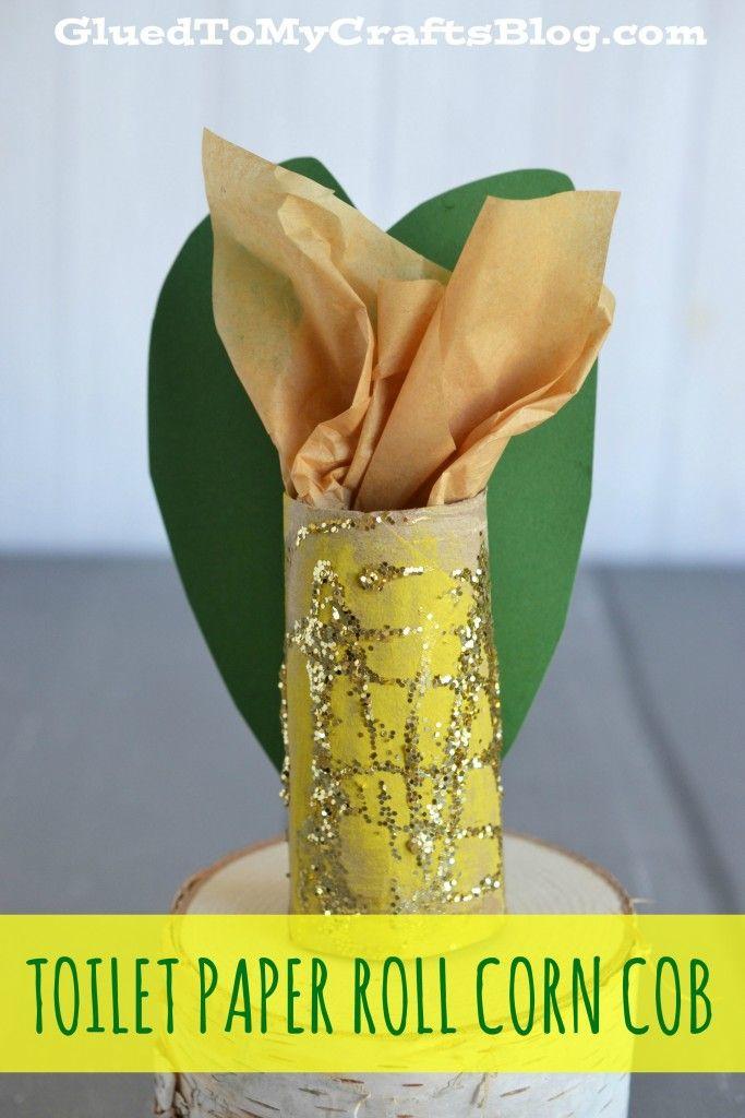 Toilet Paper Roll Corn Cob Kid Craft Idea For Fall Toilet